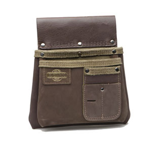 BUCKAROO Brown 2 Pocket Nailbag