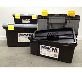 IMPACT A Plastic Tool Boxes - Nest of 3